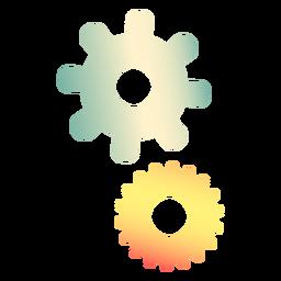 Engranajes de colores de fábrica
