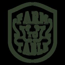 Insignia de la granja a la mesa