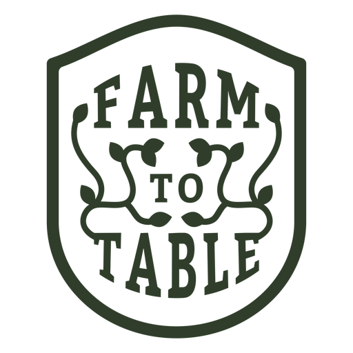 Farm to table badge