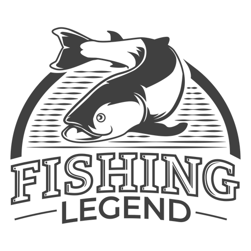 Fishing legend cool Transparent PNG