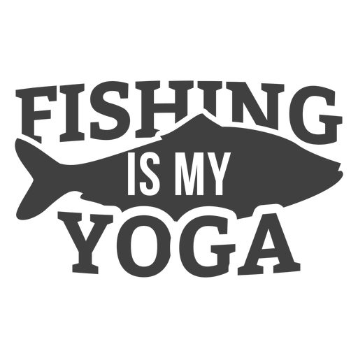 Fishing my yoga Transparent PNG