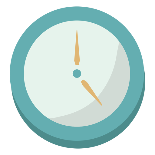 Reloj plano simple Transparent PNG