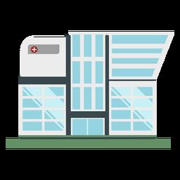 Flat hospital building