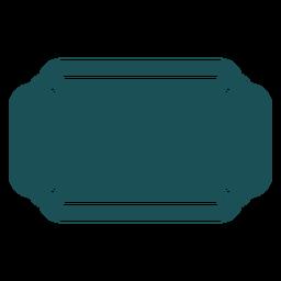 Etiqueta de rectángulo plano