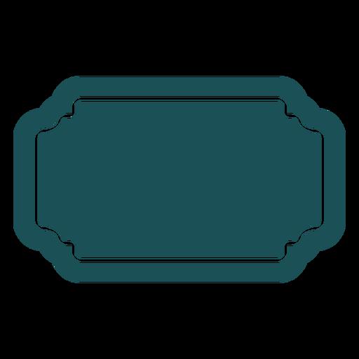 Flat rectangle label