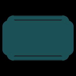 Etiqueta rectangular plana
