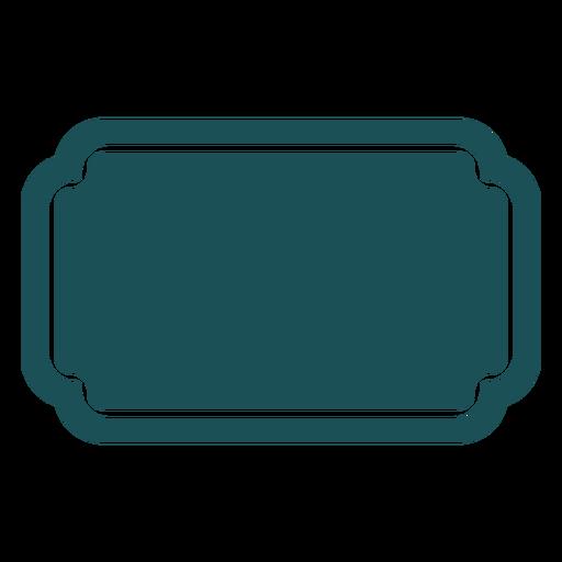 Flat rectangular label