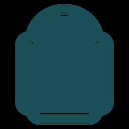 Flat vertical label