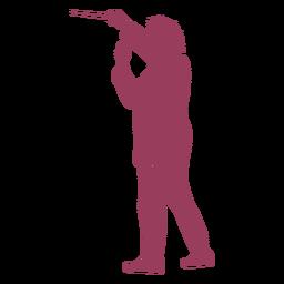 Silhueta de maestro de orquestra focada