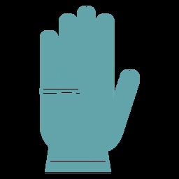 Gardening gloves silhouette