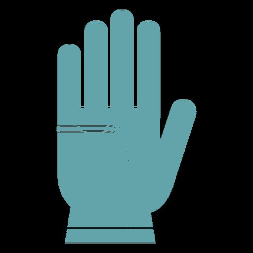 Silueta de guantes de jardinería