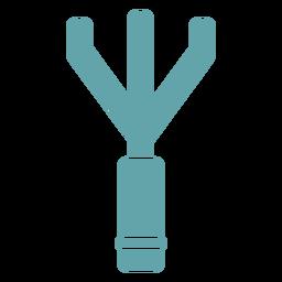 Gardening rake silhouette