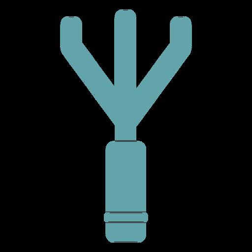 Gardening rake silhouette Transparent PNG