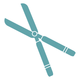 Tesouras de poda de silhueta de jardinagem