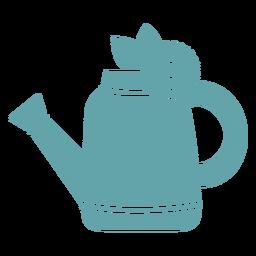 Gardening water pail silhouette