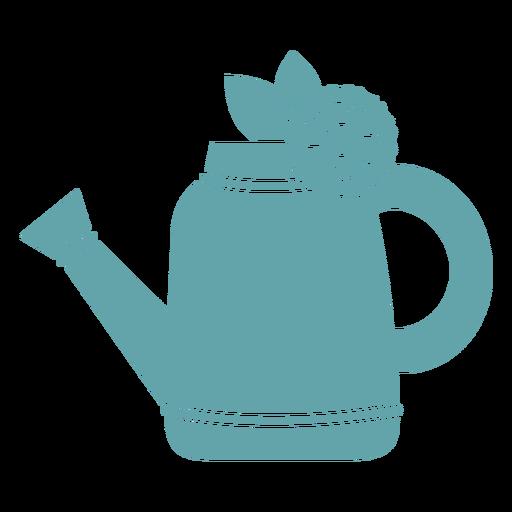 Gardening water pail silhouette Transparent PNG