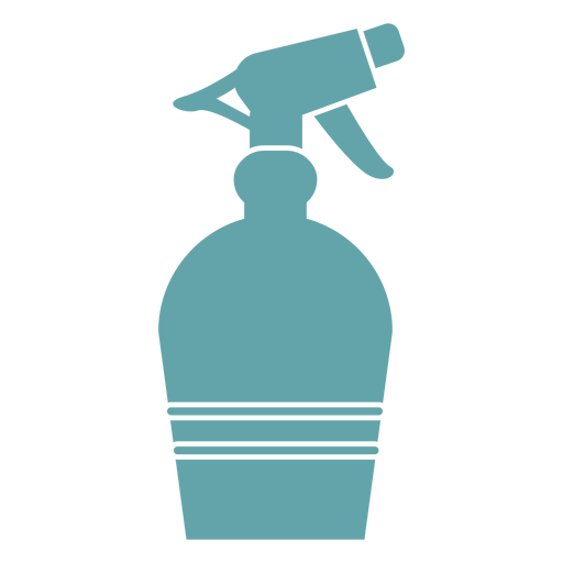 Gardening water spray silhouette