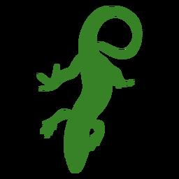 Bajando la silueta de lagarto