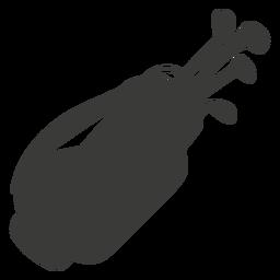 Golfausrüstung Silhouette