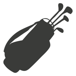 Silhueta de equipamento de golfe