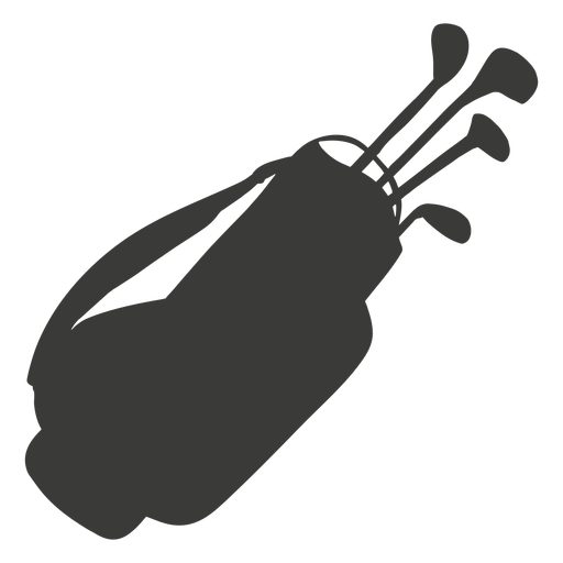 Golf equipment silhouette Transparent PNG