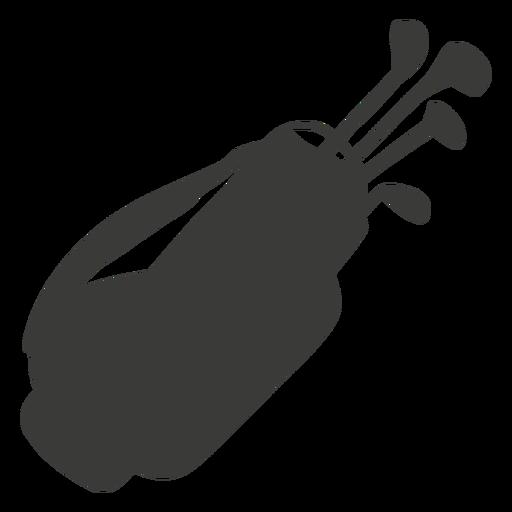 Silhueta de equipamento de golfe Transparent PNG