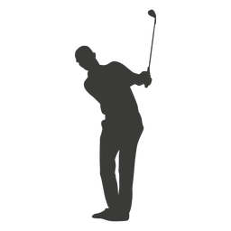 Golf player man silhouette