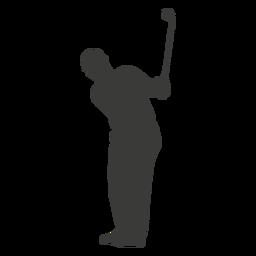 Silhueta de homem de jogador de golfe
