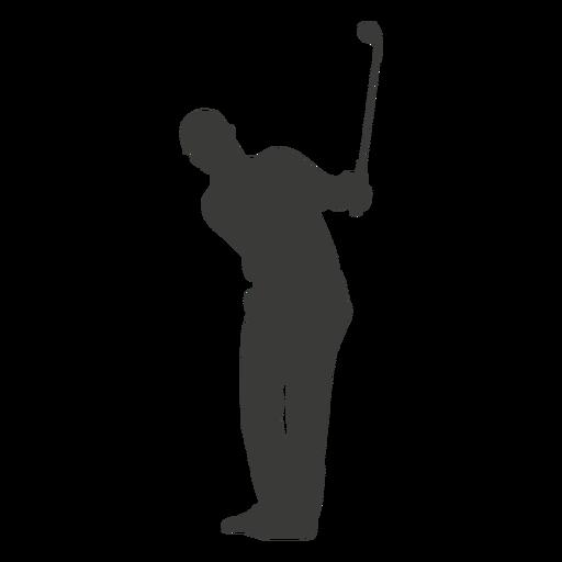 Silueta de hombre de jugador de golf Transparent PNG