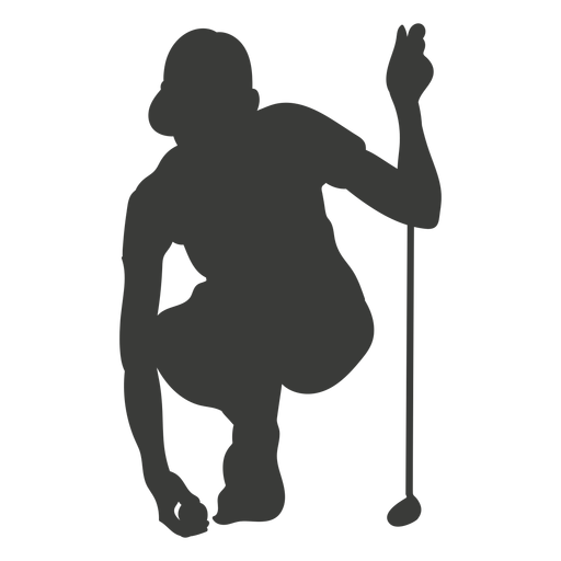 Jugador de golf silueta golf