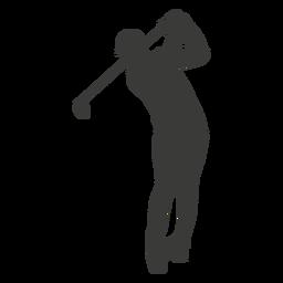 Silhueta de swing de golfe