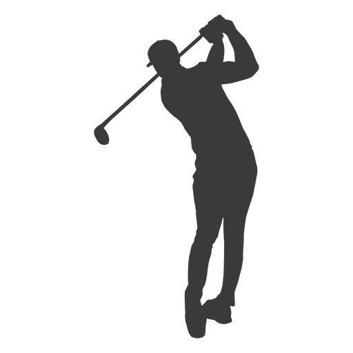 Golf swing silhouette Transparent PNG