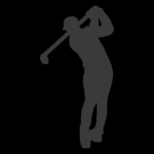 Silueta de swing de golf