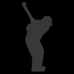 Golf schwingende Spieler Silhouette