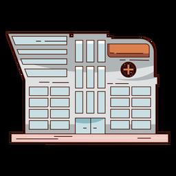 Edificio hospitalario dibujado a mano