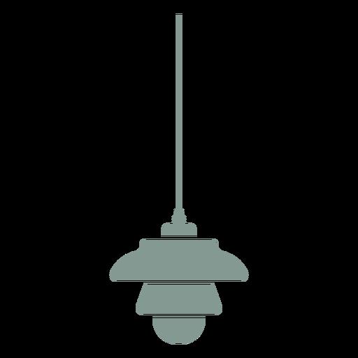 Hanging lamp furniture silhouette