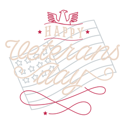 Happy veterans day lettering