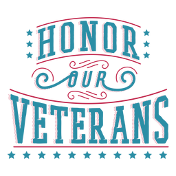 Honor veterans lettering