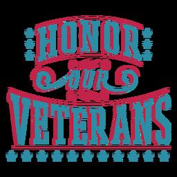 Honrar veteranos letras