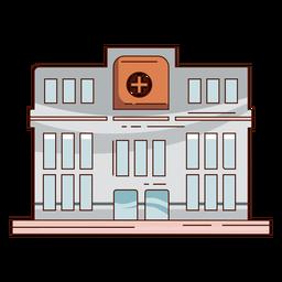 Edificio del hospital dibujado a mano