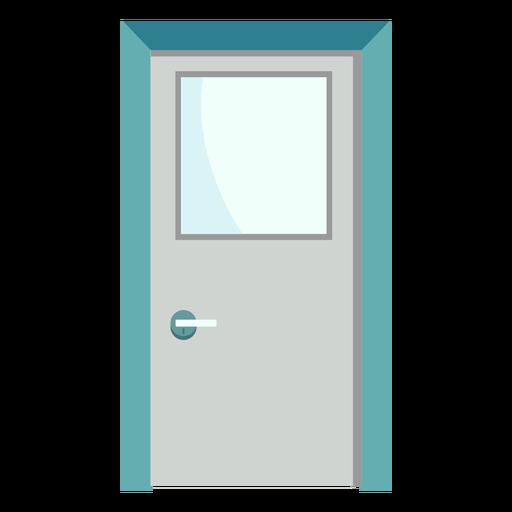 Hospital door colored