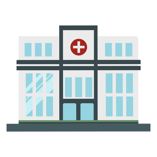 Hospital flat building Transparent PNG