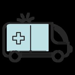 Ambulancia médica del hospital