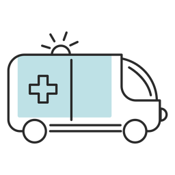 Hospital medical ambulance