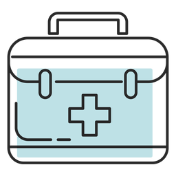 Hospital medical bag duotone