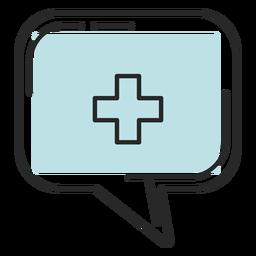 Placa médica do hospital