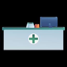 Hospital receptionist desk