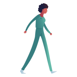 Hospital walking woman