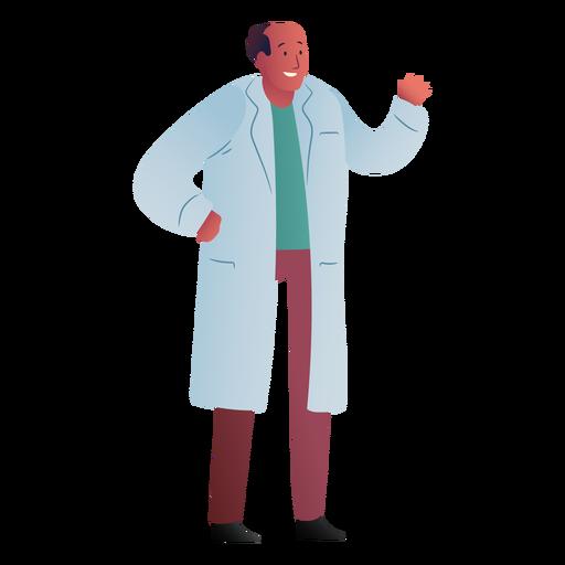 Doctor saludando del hospital