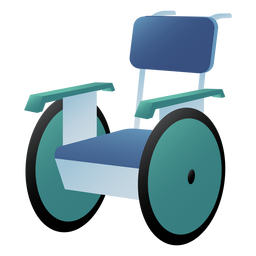 Hospital wheelchair colored